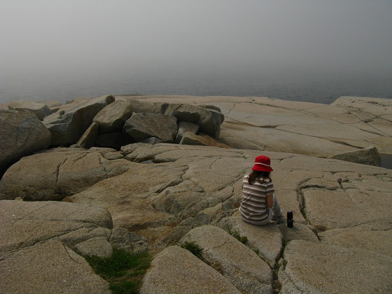 My Wife Enjoying the Fog Rolling in