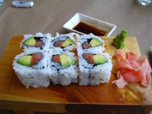 My salmon & avocado dish at The Sushi Garden