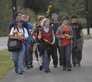 Nova Scotia students playing Humans vs. Zombies