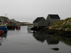 Overcast day at Peggy's Cove, Nova Scotia