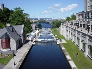 Rideau Canal overlooking the Ottawa River