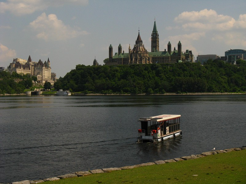 The View of Parliament Hill in Ottawa from Gatineau, Quebec
