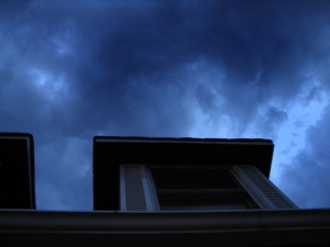 Storm clouds over our home (June 14, 2005)