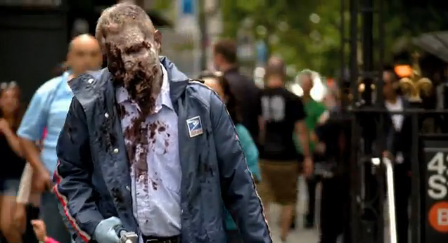 Zombie Experiment NYC - Mailman (Photo credit: AMC)