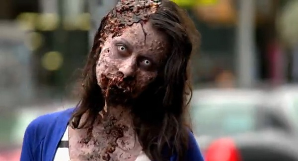 Zombie Experiment NYC - Girl 3 (Photo credit: AMC)