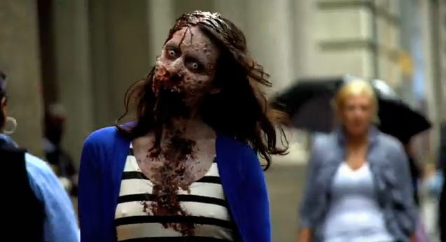 Zombie Experiment NYC - Girl 2 (Photo credit: AMC)