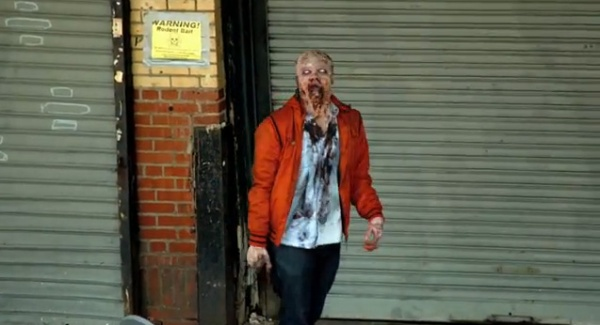 Zombie Experiment NYC - Walker (Photo credit: AMC)