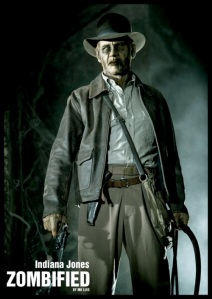Indiana Jones zombified by MK Luis