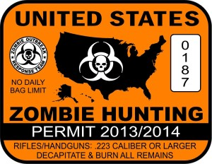 Zombie Hunting Permit 2013-2014