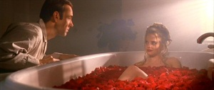 Kevin Spacey & Mena Suvari in American Beauty