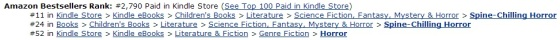 Tracking as an Amazon.ca Top 100 bestseller as at April 16, 2014, 1:35pm EST.