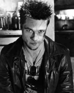 Brad Pitt as Tyler Durden in Fight Club