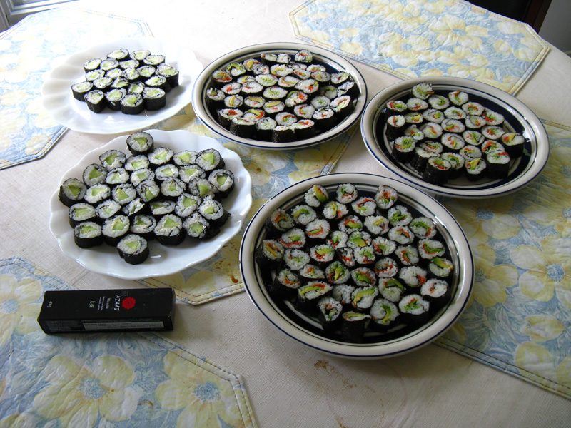 My love for making sushi.