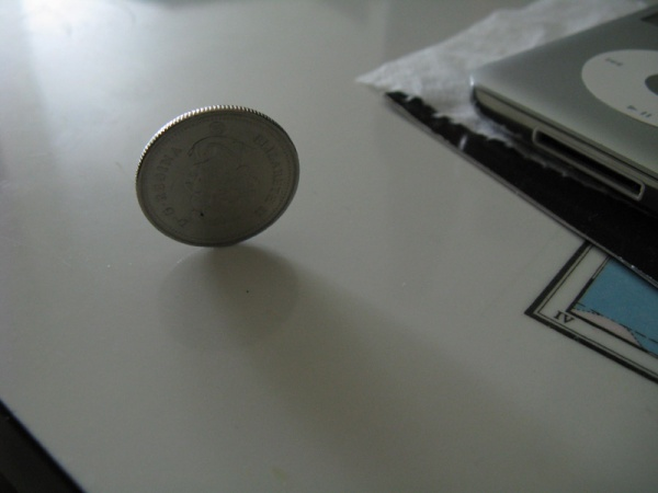 The story of the stationary Canadian quarter. This actually happened.