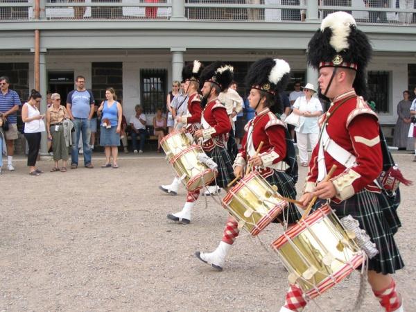 Soldiers march in Citadel Hill, Nova Scotia