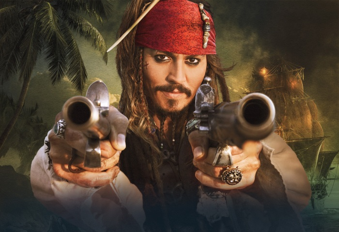 Johnny Depp as Captain Jack Sparro