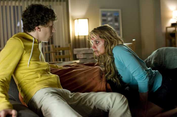 Jesse Eisenberg and Amber Heard in Zombieland