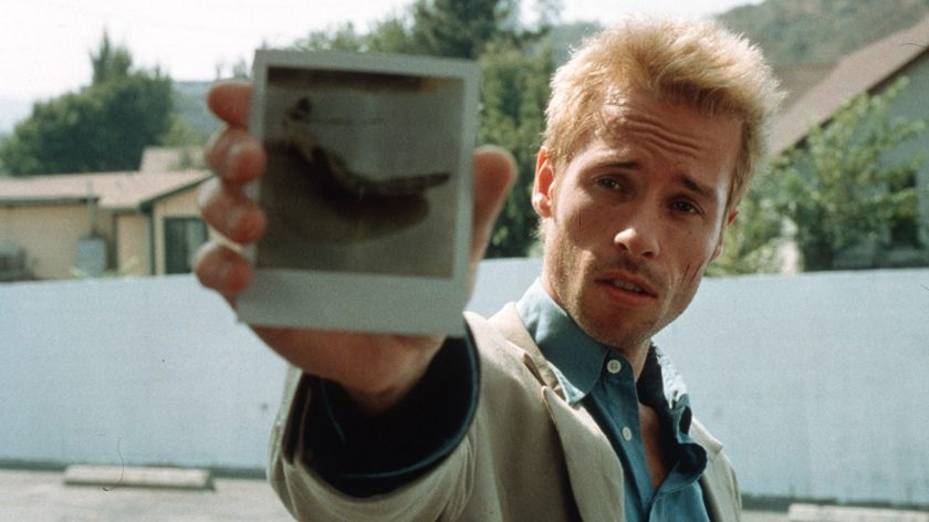 Guy Pearce as Leonard in Memento