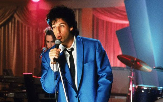 Adam Sandler as Robbie Hart in The Wedding Singer
