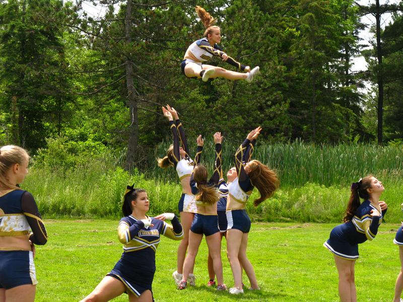 Town's cheerleaders