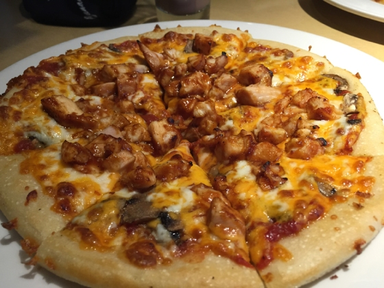 Pizza with tons of toppings