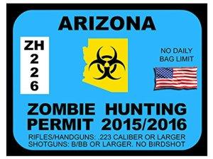 Arizona Zombie Hunting Permit