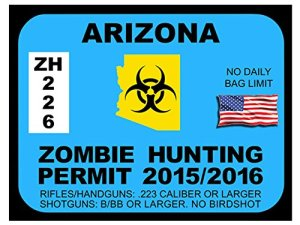 Arizona Zombie Hunting Permit