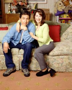 Ray Romano and Patricia Heaton as Ray and Debra