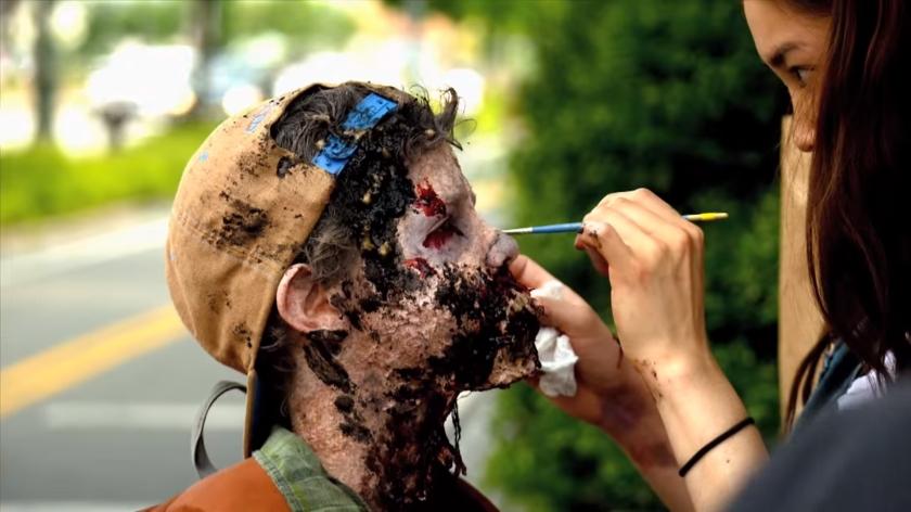 Zombie Experiment NYC - Boy (Photo credit: AMC)